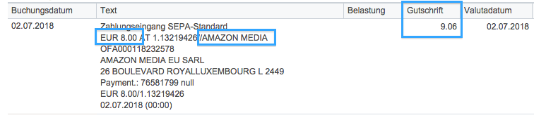 amazon zahlung